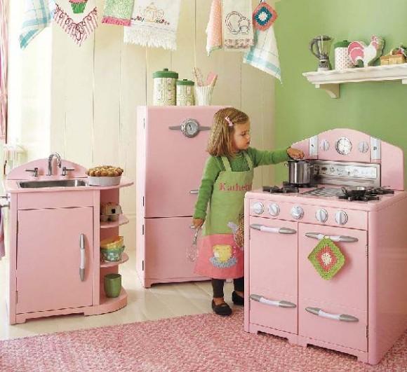 acabado con pintura brillante y sellado con laca resistente a la humedad diseo de cocina de color rosa para nias de todo juguetes