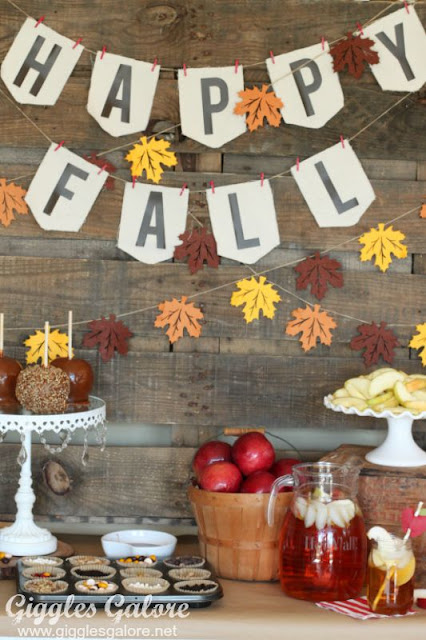 Fall party caramel apple bar