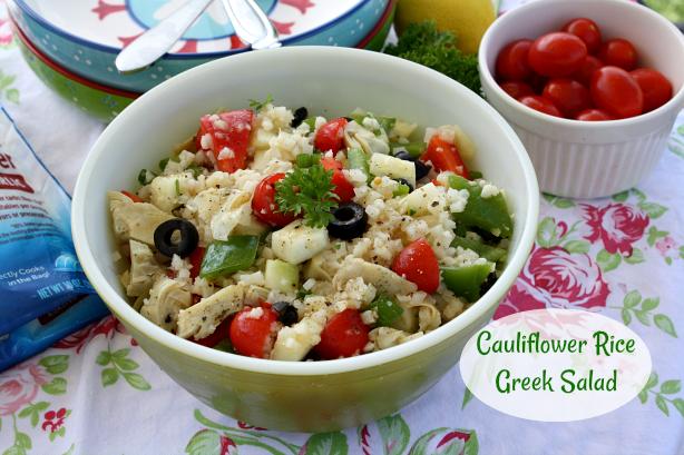 Cauliflower Rice Greek Salad