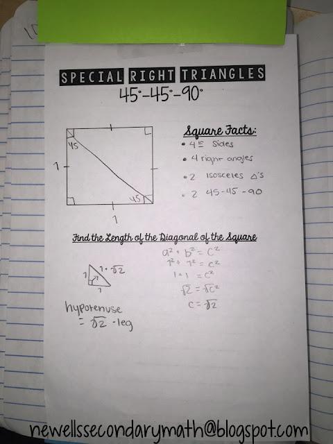 3 4 using the pythagorean relationship