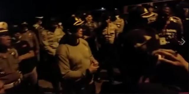 Beredar Video Penghadangan Polisi di Lampung Terhadap Peserta 212