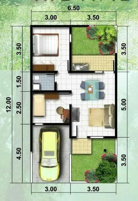 Rumah 1 Lantai Ukuran 7x12 Meter