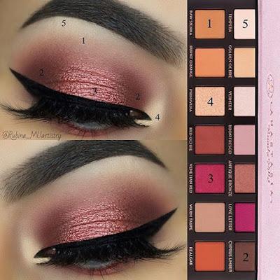 Luxury Makeup - (How To Create This Rose Glam Eyeshadow Look)