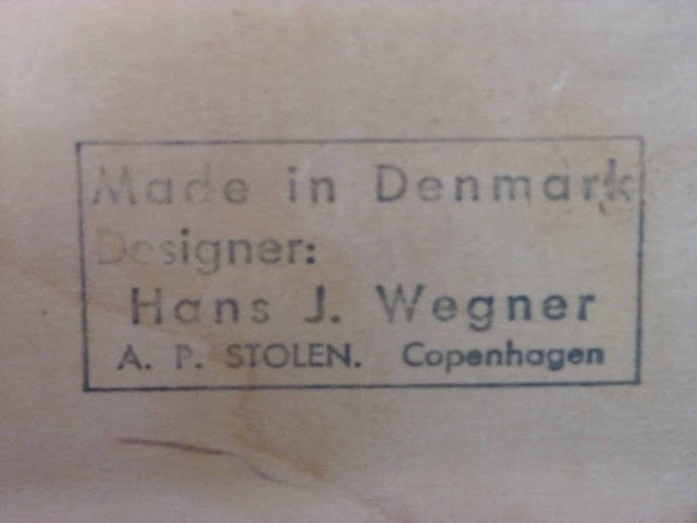 Hans J. Wegner AP-19 Papa Bear Ottoman by AP Stolen, Denmark Stamp Makers Mark