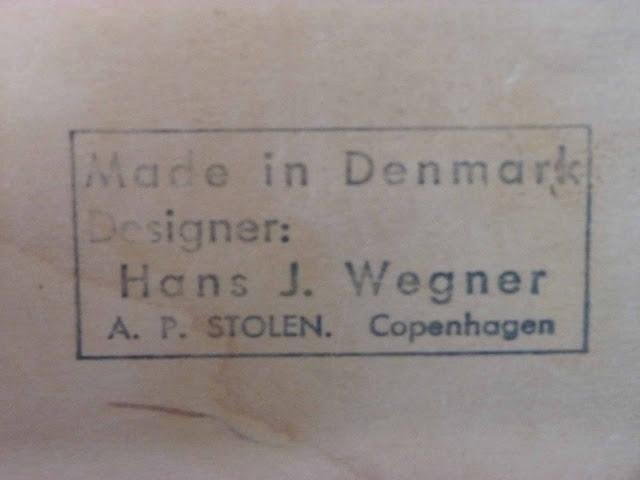 Hans J. Wegner AP-19 Papa Bear Ottoman by AP Stolen, Denmark Stamp Makers Mark