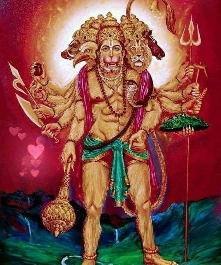 Hanuman - The Complete Personality: Panchamukha Anjaneya stotram