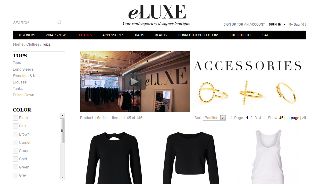 eluxe website