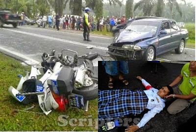 Image result for anggota polis kemalangan