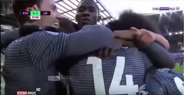 هدف فوز ليستر على ايفرتون (1-0 ) الدوري الانجليزي  01/01/2019