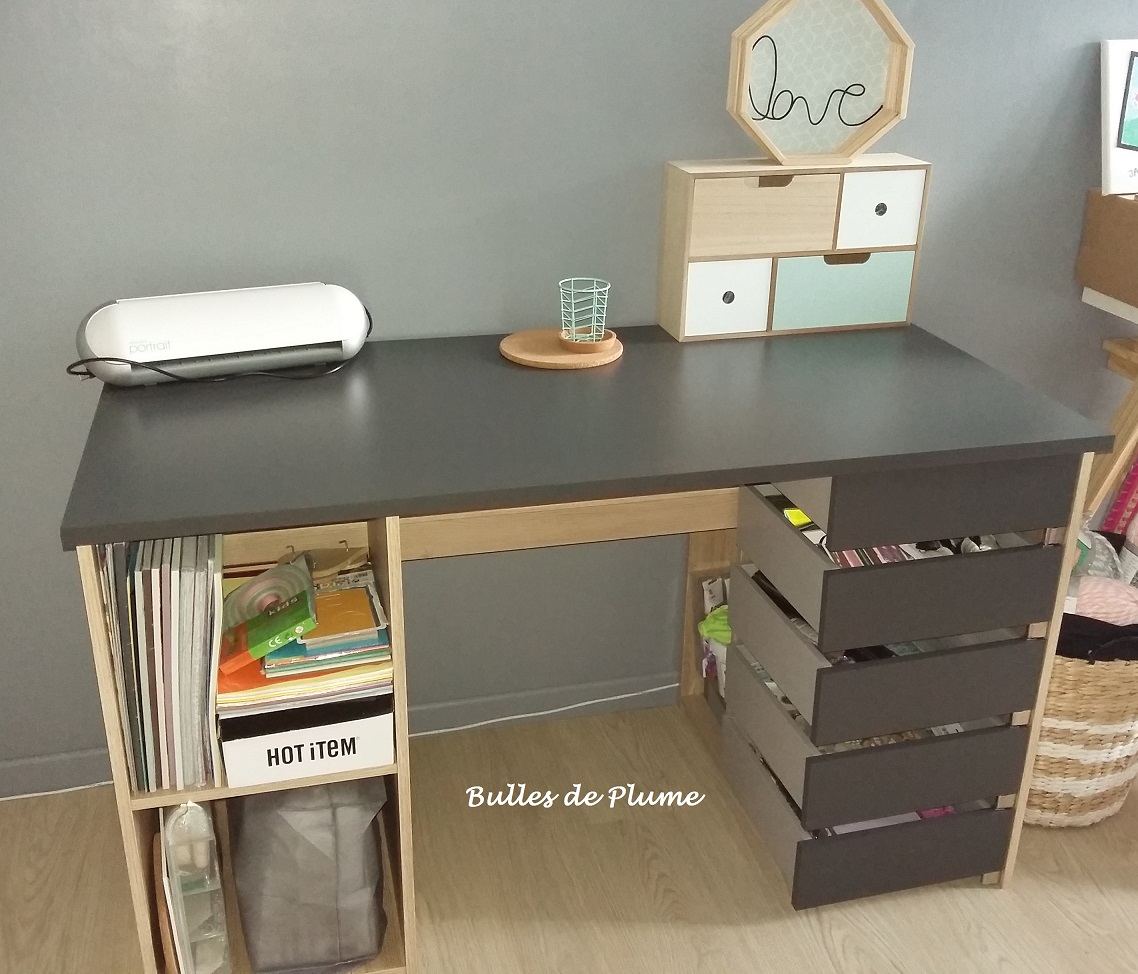 affordable mon coin cratif la maison avec le bureau creastyle last meubles with last meubles parisot. Black Bedroom Furniture Sets. Home Design Ideas