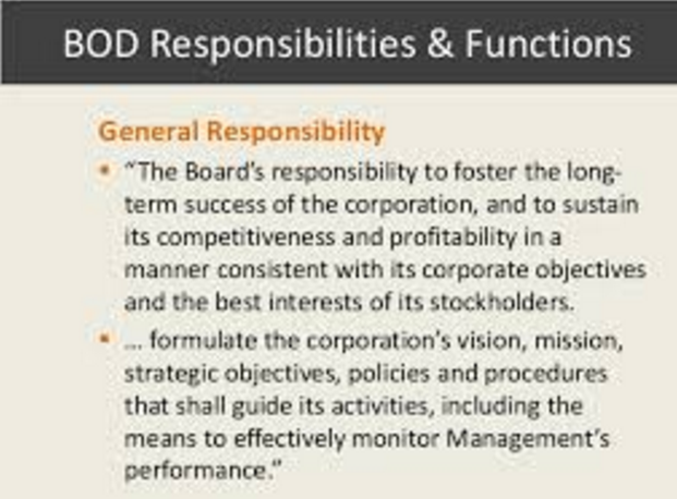 The Real Duty of the Board of Directors