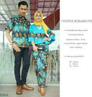 Batik Pasangan SBRG132 Couple Gamis Kebaya Modern Tosca