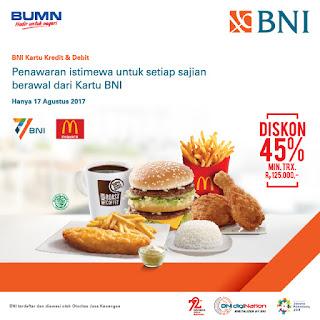 Promo MCD dengan Kartu Debit BNI