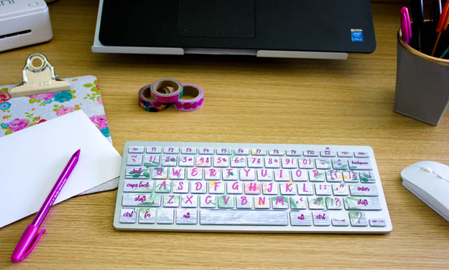 Custom Keyboard Stickers Designed To Be Crafty