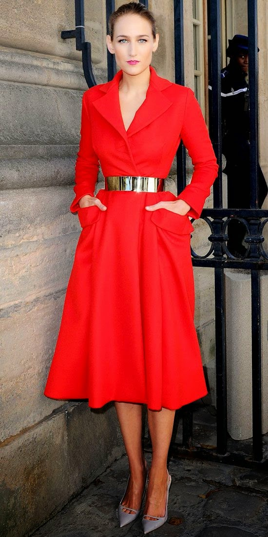 red-coat-gold-slim-belt-outfit