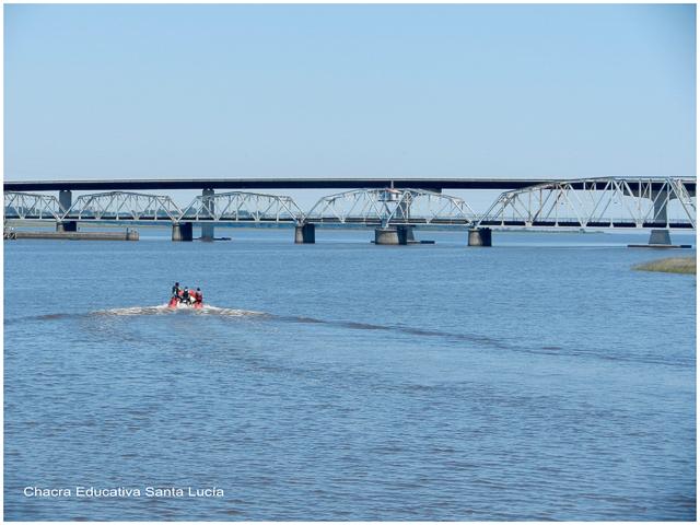 Deportes acuáticos en el río Santa Lucía - Chacra Educativa Santa Lucía