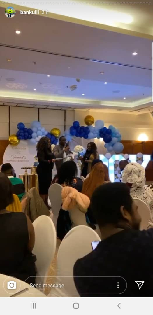 See Lovely Photos of Davido and wife's naming ceremony of their newborn son David Jnr. Ifeanyi Adeleke