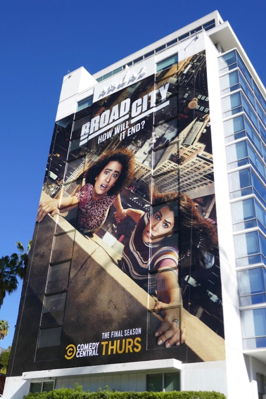 Giant Broad City final season 5 billboard