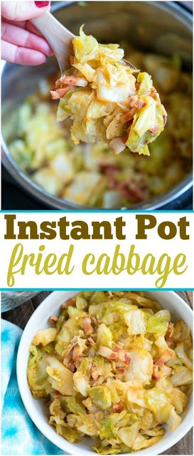 Pressure Cooker Instant Pot Fried Cabbage