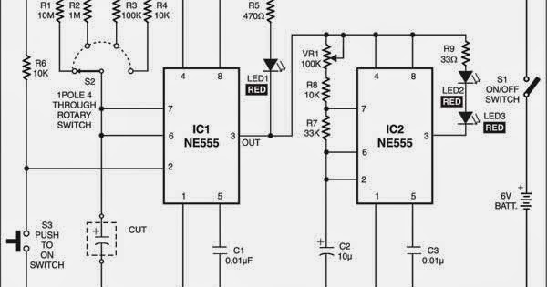 Wiring Schematic diagram: Electrolytic Capacitor Tester