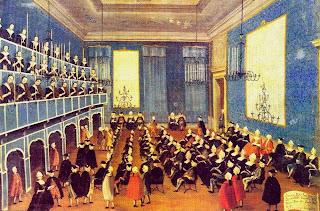 Ilustración del Ospedale della Pietà en tiempos de Vivaldi