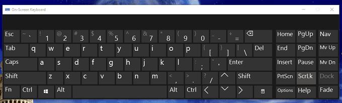 kích hoạt bàn phím ảo trên Windows