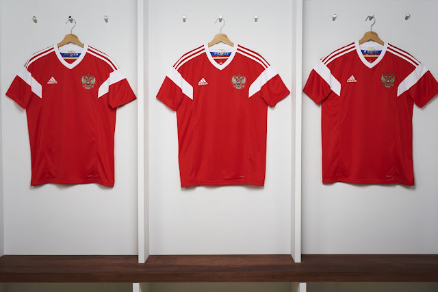 de6be566 The new kit celebrates the long-term partnership between adidas and the  Russian national football team. This partnership started in 1976, when  adidas became ...