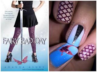 Literary Nails: Fairy Bad Day by Amanda Ashby