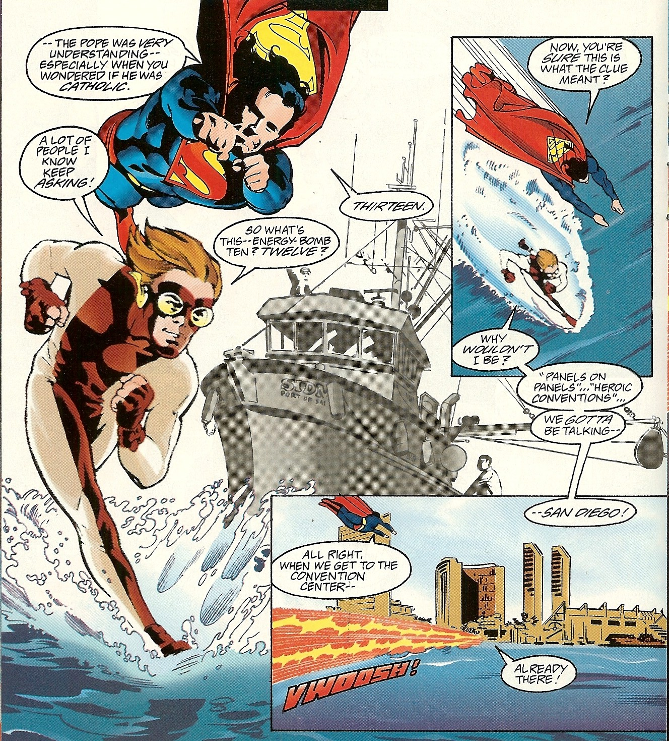 aaccb88c Impulse probably asked the pope about bears and the woods, too; in 1996's  Adventures of Superman #533,