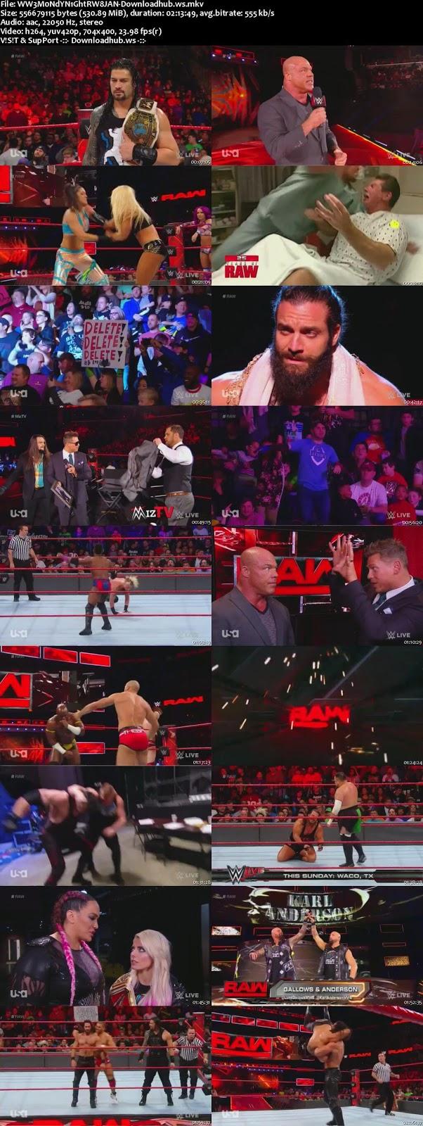 WWE Monday Night Raw 08 January 2018   Download