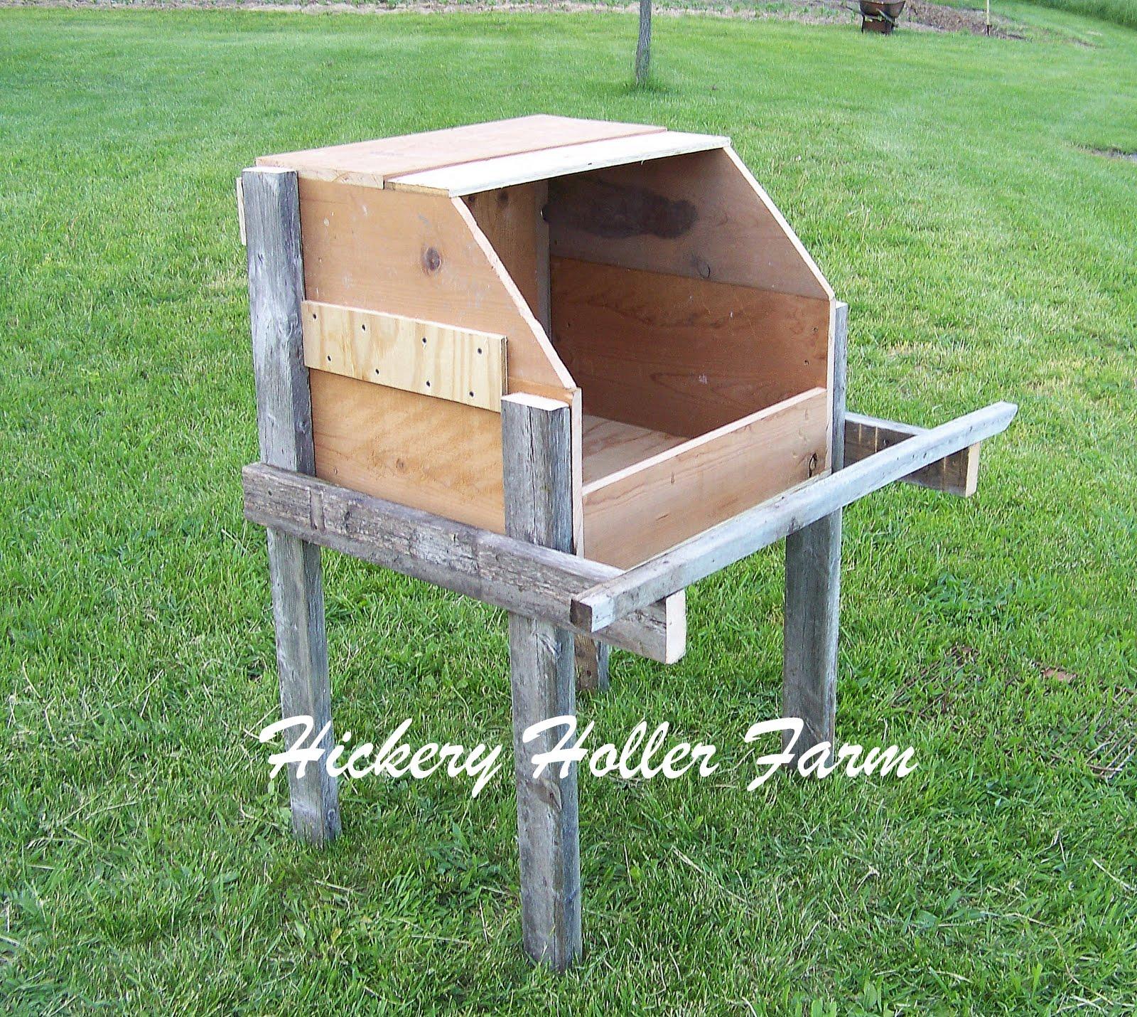 hickery holler farm turkey nesting boxes