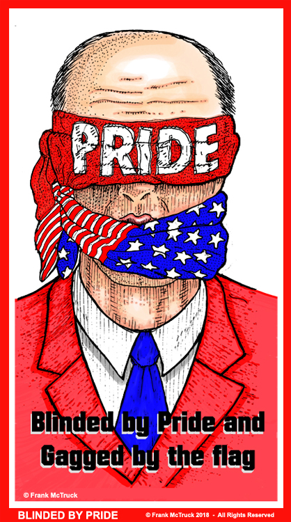 Frank McTruck color cartoon - 'Blinded by Pride'