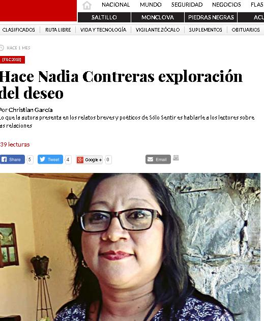 Hace Nadia Contreras exploración del deseo