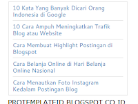 Cara Membuat Recent Post Sederhana