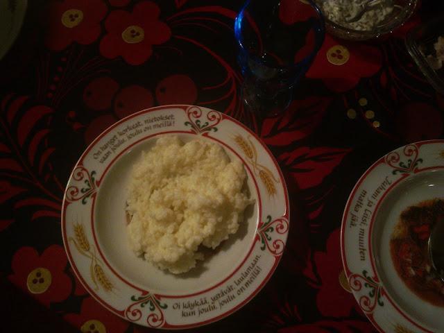 Joululautaset, apilalautaset, joulupuuro, riisipuuro