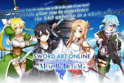 Download Game Android SWORD ART ONLINE : Memory Defrag (Asia) Apk v1.10.2 Mod
