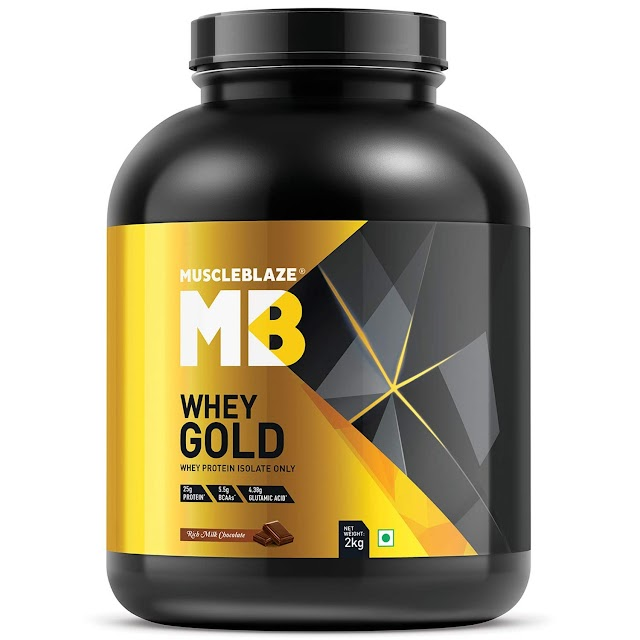 MuscleBlaze Whey Gold Protein, 2 kg Rich Milk Chocolate