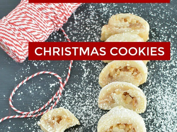 Family Holiday Favorite Walnut Strudel Cookies