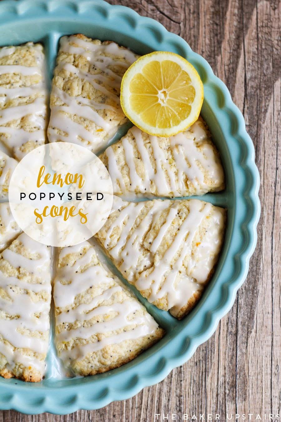 The Baker Upstairs Lemon Poppyseed Scones