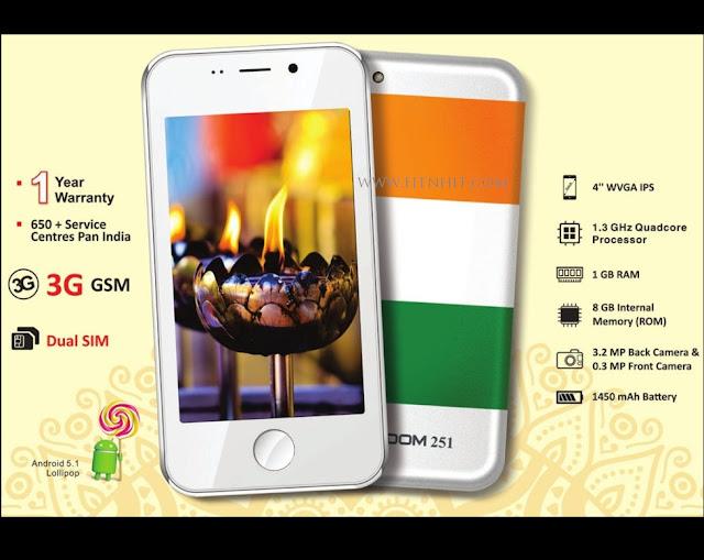 14 RIYAL FREEDOM 251 SMARTPHONE IN INDIA