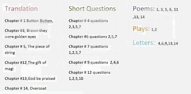 1st Year English Pairing Scheme 2021 - 11th Class Assessment Download