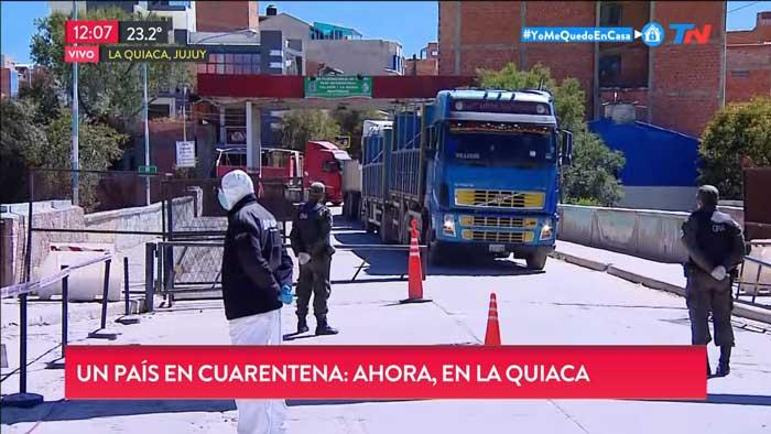 Canal TN de Argentina estuvo en la frontera La Quiaca - Villazón