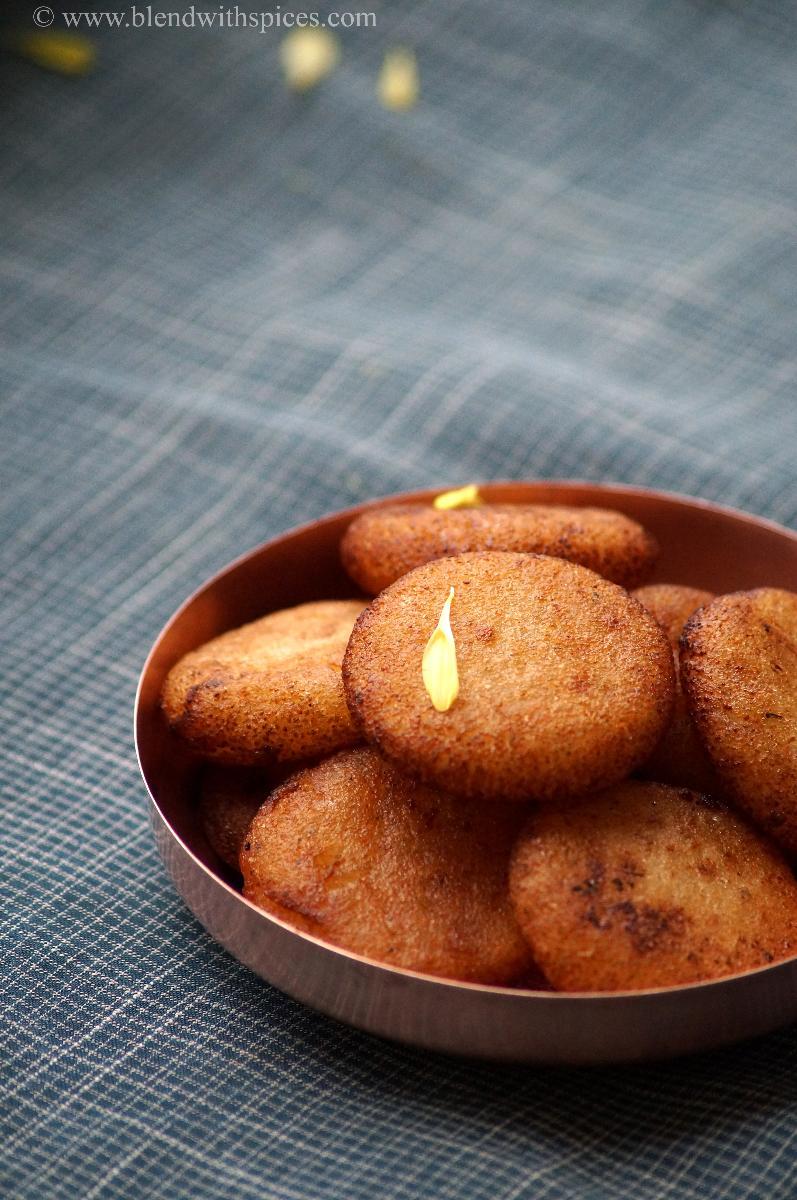 rava appalu recipe, how to make rava appalu, appalu prasadam, navratri recipes
