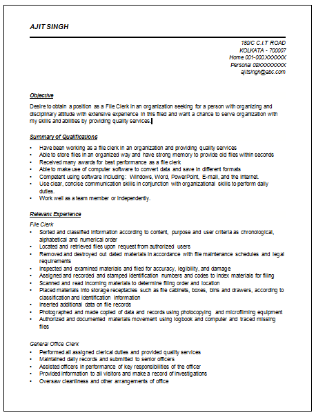 accounting resume example and samples
