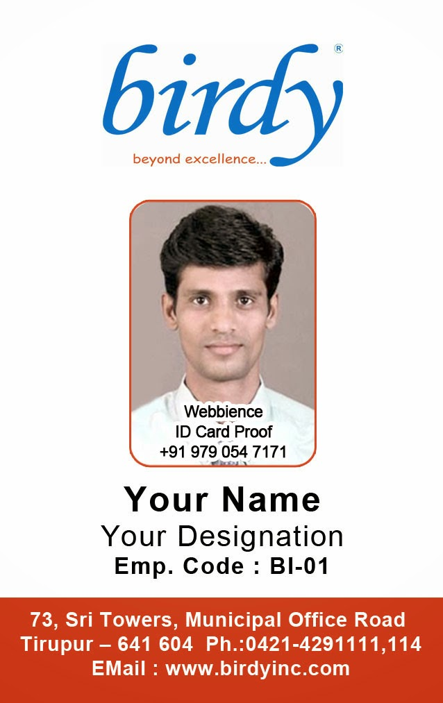 ID Card - Coimbatore - Ph: 97905 47171: Vertical Employee ...