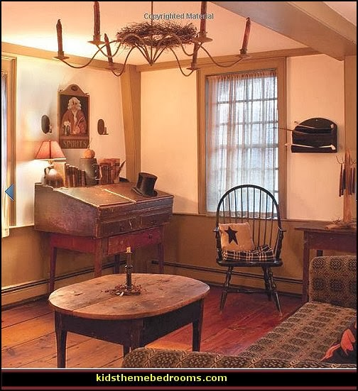 Decorating theme bedrooms  Maries Manor primitive americana decorating style  folk art