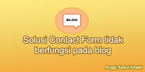 Solusi Contact Form tidak berfungsi pada template N Light Pro
