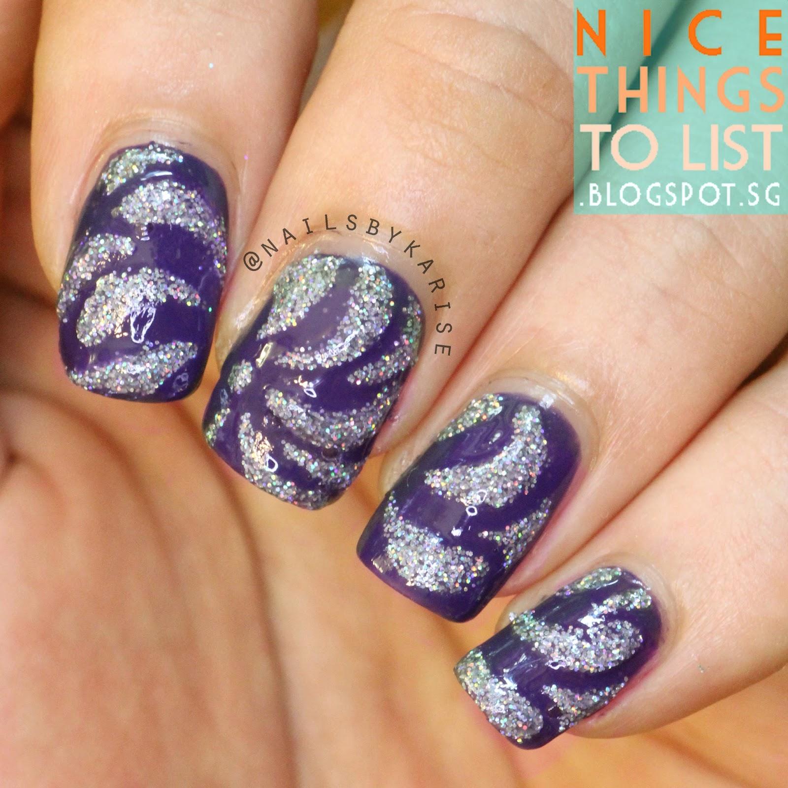 Spiral Nail art using Nail Vinyls from BornPrettyStore - Nice Things ...