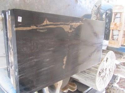 view of petrified wood medium table
