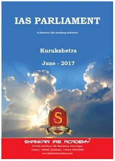 Kurukshetra Gist - June - 2017 - Shankar IAS